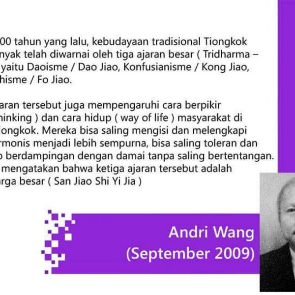 Andri Wang – Tentang Tridharma